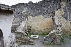 Storage Vessel and House, Herculaneum Archaeological Site, Campania, Italy Royalty Free Stock Image