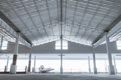 Storage warehouse interior of fresh market stock image