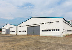 Storage warehouse at outdoor Royalty Free Stock Photos