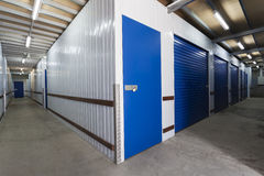 Storage warehouse. Warehouse with private storage sheds Royalty Free Stock Photo