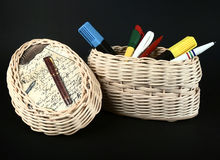 Free Storage Wicker Box Stock Photography - 4458452