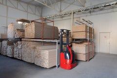 Storage of wood Stock Image