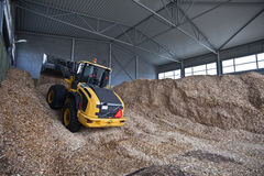Storage of wood chips Royalty Free Stock Photo