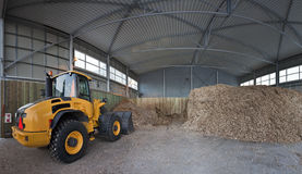 Storage of wood chips Stock Images