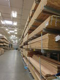 Storage of wooden planks Stock Images
