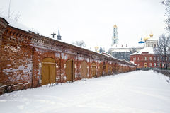 Storages and barns at Lavra. Economic building of Trinity Lavra of St. Sergius Royalty Free Stock Photos