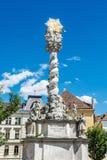 Storartad barock kolonn, Sopron, Ungern arkivbild
