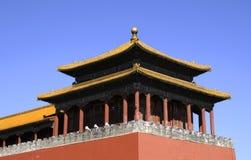 Storartad byggnad av den förbjudna staden Royaltyfri Fotografi