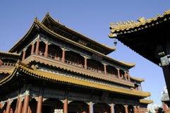 Storartad byggnad av den kinesiska slotten Arkivfoto