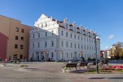 Storartad forntida herrgård i mitten av Grodno arkivfoton