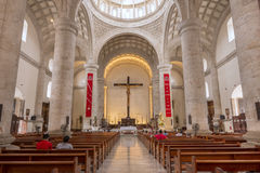 Storartad inre av Merida Cathedral i Yucatan, Mexico Royaltyfria Foton