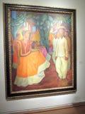 Storartad målning av Diego Rivera ställde ut i Malbaen - den moderna Mexico utställningavantgarde och revolutionen royaltyfri foto