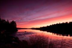 storartad solnedgång för liggande royaltyfri fotografi