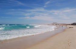 storartad strand Arkivbild