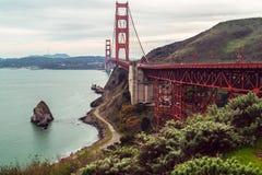 Storartad teknik Golden gate bridge royaltyfri bild