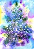 storartad tree för julpäls Arkivbilder