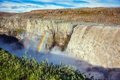 Storartad vattenfall Dettifoss Royaltyfri Bild