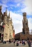 Storartade byggnader Bruges Belgien Royaltyfri Foto