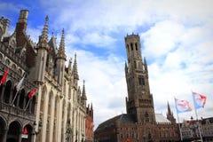 Storartade byggnader Bruges Belgien Royaltyfri Bild
