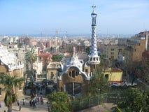 Storartade sikter av Barcelona, Spanien Fotografering för Bildbyråer