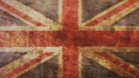 Storbritannien flagga på trä Royaltyfria Bilder