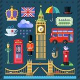 Storbritannien kungarike, London huvudstad stock illustrationer