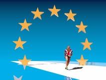 Storbritannien och för europeisk union förhållanden Brexit metafor Arkivbilder