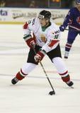 Storbritannien vs. för världsmästerskap för Ungern IIHF matt ishockey Royaltyfria Foton