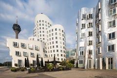 Storbystade arkitekturer i Dusseldorf Royaltyfri Fotografi