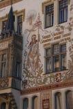 Storch议院阳台和壁画  免版税库存照片