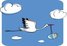 Storch mit dem Kind Stockbilder