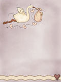 Storch mit Schätzchen Stockfotos