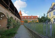 Storchenturm (鹳塔)在丁戈尔芬格 免版税图库摄影