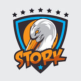 Storchlogo Lizenzfreies Stockfoto
