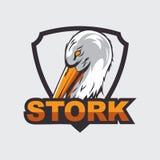 Storchlogo Lizenzfreies Stockbild