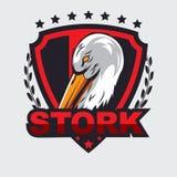 Storchlogo Lizenzfreie Stockbilder
