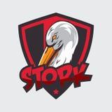 Storchlogo Stockfotos