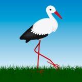 Storck del vector en fondo Foto de archivo libre de regalías