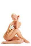 storczykowa biała kobieta Obrazy Royalty Free