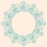 Storczykowa round rama Obrazy Royalty Free