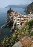 Stordimento Italia - villaggio di Vernazza Fotografia Stock Libera da Diritti