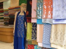 Store 01. Mannequin standing in a textile shop Stock Photo
