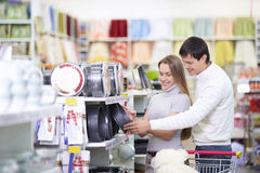 In Store. Attractive couple in the store Stock Photo