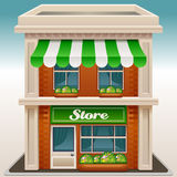 Store. Icon of the facade of a shop store or cafe vector illustration