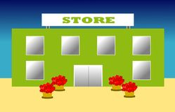 Store. Illustration of a nice elegant store stock illustration