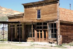 A Store in the Abandoned Gold Mining Town of Bodie, California stock image