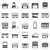 Store And Building Icon Set Stock Image