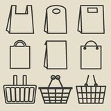 Store bag set Stock Photography