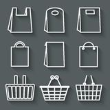 Store bag set Royalty Free Stock Image