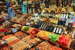 Store. Barcelona market, Spain - August 1, 2015 Stock Images